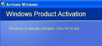 windows product activation success