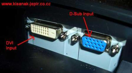 Main PS2 Pake Monitor CRT LCD Komputer D Sub DVI